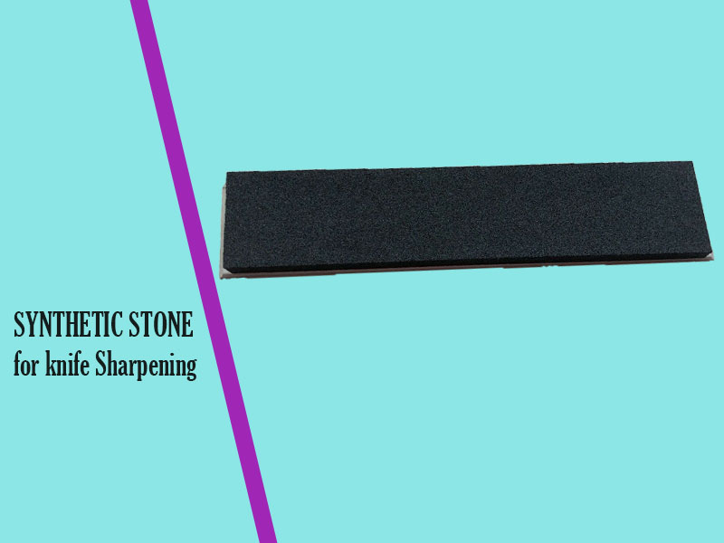Synthetic stone knife sharpener