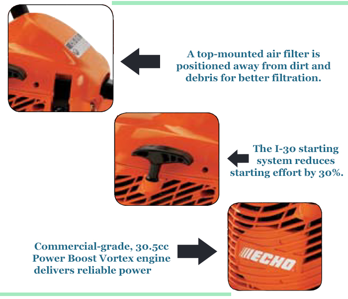 Echo CS 310 Chainsaw Features